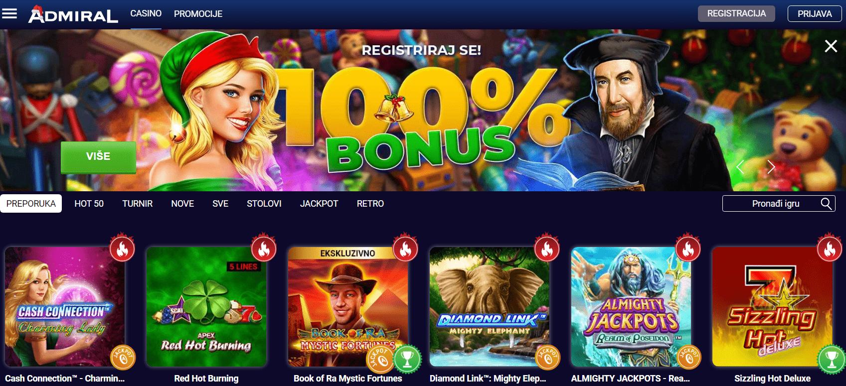 Najbolji Online Casino - Admiral Casino