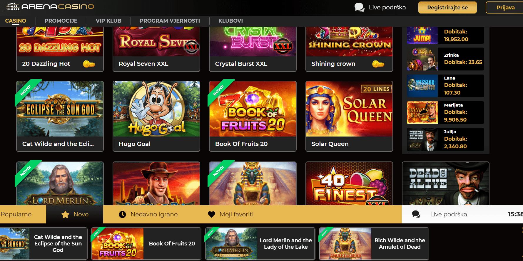 arena casino igre